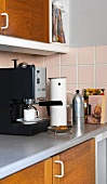 Espresso machine in kitchen