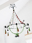Cheerful wire chandelier