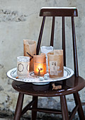 Teelichter aus Butterbrotpapier