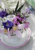 Teacup of summer flowers