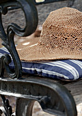 Summer hat on chair