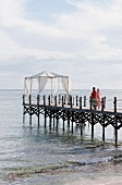 Pavilion on jetty at the Hotel Shanti Maurice (Mauritius)