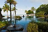 Teichanlage beim Hotel Shanti Maurice (Mauritius)