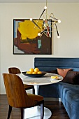 Comfortable corner with mix of furniture styles from fifties to modern