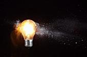 Shattering light bulb