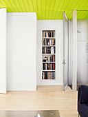 Bookcase in niche