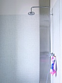 Shower area with showerhead