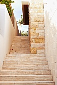 Stone steps behind house