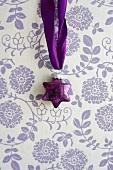 Purple, glass, star-shaped bauble