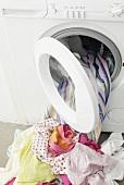 Laundry at washing machine