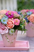 Flower arrangement outdoors