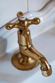 Vintage brass bath tap