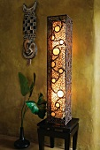 Tall decorative floor lamp