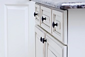 Detail of drawer and cabinet knobs