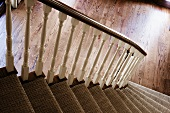 Stairs and Hardwood Floor Entry