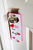 Door Hanger on Girl's Bedroom Door