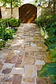 Stone Path to Wood Gate