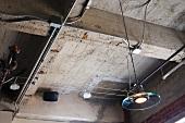 Industrial detail of ceiling.