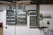 Control panels in control room