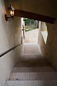 Vignette of descending stairs.