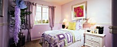 Purple kids room in traditional home