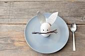 Rabbit decoration on plate