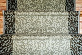 Patterned carpet runner on staircase
