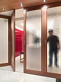 Modern translucent folding doors