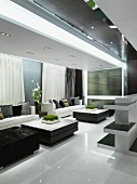 Neutral modern living room