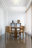 Small wooden dining room table