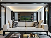White sofa in modern home