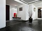 Inside foyer of modern home