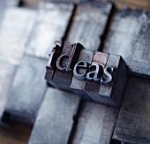 Lead type spelling 'ideas'