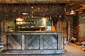 Bar With a Rustic Decor