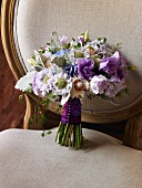 Wedding Bouquet on a Chair