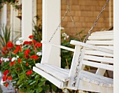 Porch Swing and Flowers