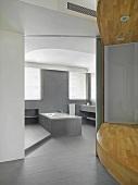 Gray bathroom in modern home