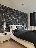 Black and white modern bedroom