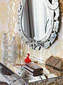 Decorations on mirror dresser