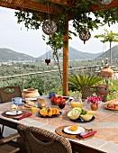Breakfast on terrace (Villa Octavius, Lefkas, Greece)