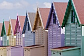 Row of Colorful Beach Homes