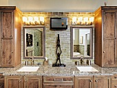Bathroom Counter With Vanity Lightin