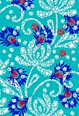 Mosaic-style floral pattern (print)