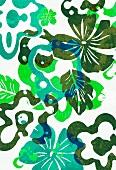 Multi-layered tropical flower design (print)