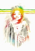 Design with hippie African woman (print)