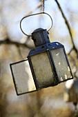Old lantern in garden