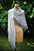 Gray Wrap Made from Alpaca Wool