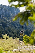 View of Wendelstein - cable car (Alps, Germany)