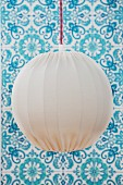 Hand-crafted pendant lamp with white lampshade