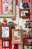 Floral watercolours and picture frames
